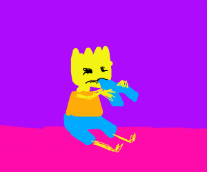 Bart Simpson ate too many shorts