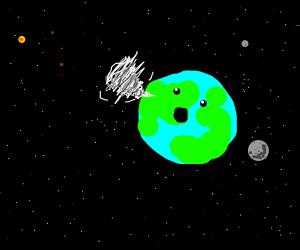 hurricane in space