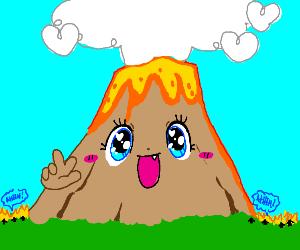 Kawaii volcano