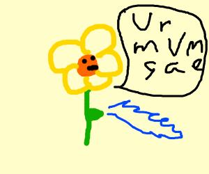 Flower chants magic words