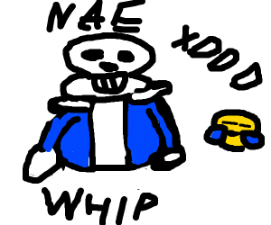 Sans Undertale does the whip and nae nae xDDD