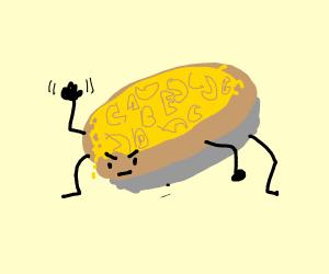 Angry alphabet Mac n' Cheese pie.