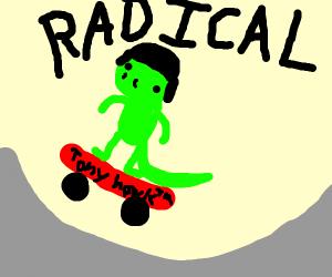 a really radical lizard