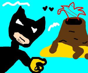 Volcano and batman