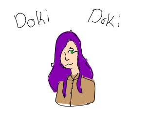 Yuri from doki doki lirature club