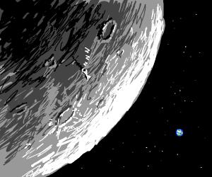 Sleeping Astronaut on the Moon