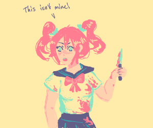 anime girl totally does not own bloody knife