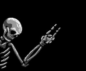 rocker skeleton