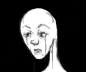 Crying Ghost with a realistic human face