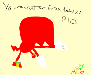 Your avatar from behind PIO