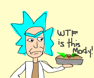 rick with a pie