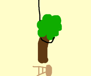 the tree has hanged itself