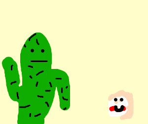 flying cactus finds a donut with cheeks