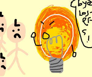 Light bulb says bye to the losers