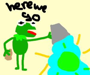 kermit washes the sun