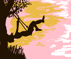 Swinging in the sunset