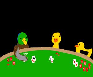 Ducks playing Blackjack