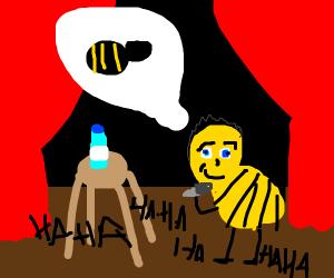 Bee telling bee jokes
