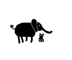 Elephant and his stuffed bear