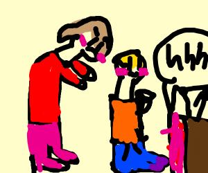 Kid watching a innapropite anime (sfw