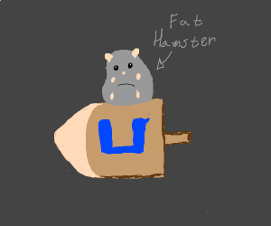 Chubby Hamster on a Driedel