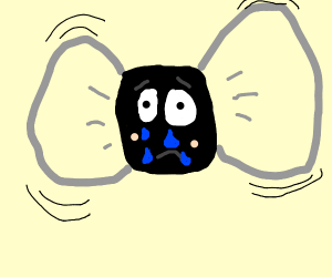 Cute but very sad crying fly