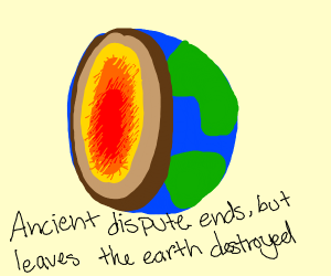 Ancient disput ended: earth is a half-sphere