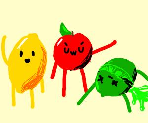 Lemon, Apple, Lime