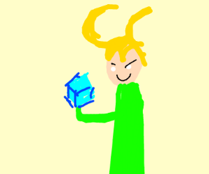 Loki is going to molest a cube