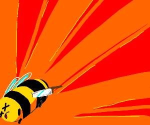 Poor bee got stabbed :(