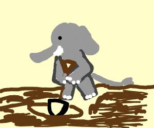 Elephant Digging