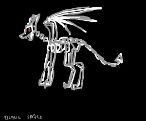 spooky scary skeleton dragon