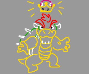bowser is about to put on the waifu crown