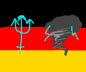 Germany's flag but more tridents & tornados