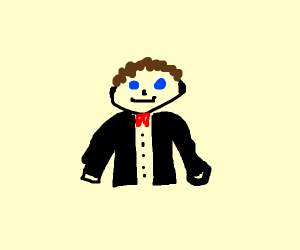 man with a litlte bowtie and suit