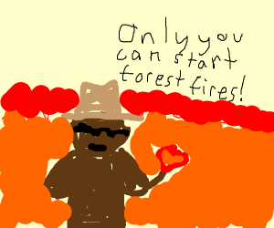 Smokey the bear gone rogue