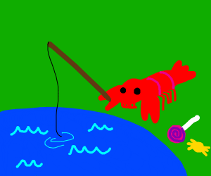Lobster fishing with Candy
