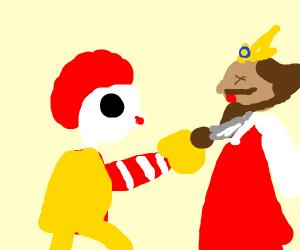 mcdonalds wins, burger king loses