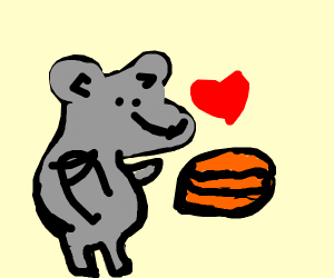 ze mouse is in love with ze lasagna