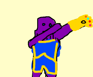 Thanos dabbing