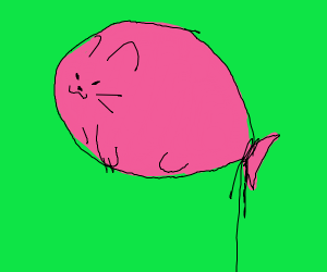 minimalistic cat balloon