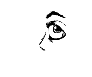 sideways eye
