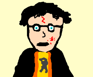 Harry Potter with blood in his hair