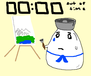 Egg sailor doesn't finish its drawings