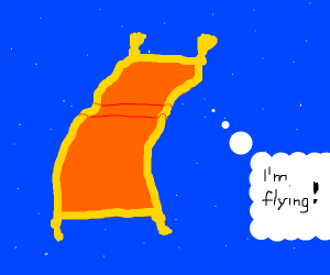 a flying carpet