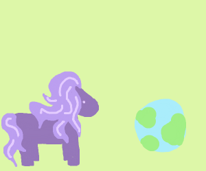 Ponies in a pastel world