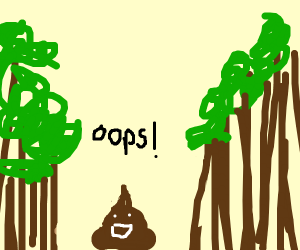 Happy little accidents in the forest ;)