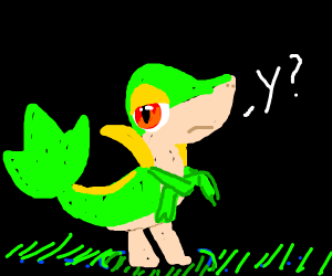 Snivy disapproves of your actions