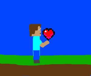 Steve finds a heart