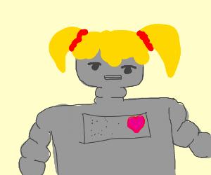Robot w/ pigtails
